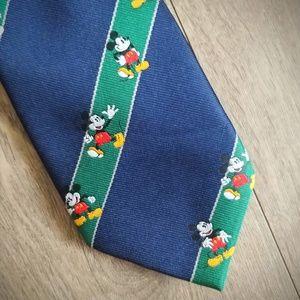 Mickey Mouse Vintage Tie Preppy Stripes John Lois